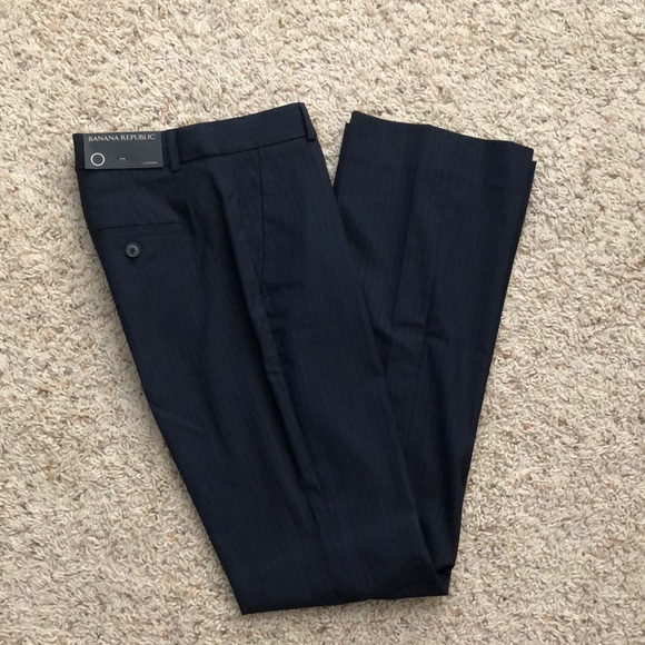 Banana Republic Pants - NWT Banana Republic Logan pinstripe navy pants 0